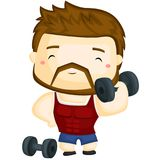 Fitness Instructor. A fitness instructor lifting heavy weight Royalty Free Stock Photo