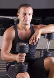 Fitness instructor making a break Royalty Free Stock Photo