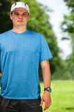 Fitness instructor outdoor stock images