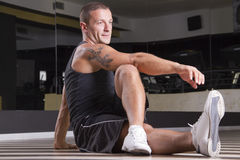 Fitness instructor posing Royalty Free Stock Image