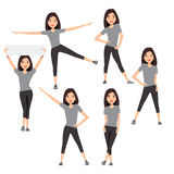 Fitness instructor. A slender girl Royalty Free Stock Photo