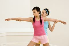 Fitness instructor and student Stock Images