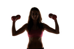 Fitness instructor in a studio working out Royalty Free Stock Photo