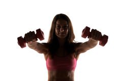 Fitness instructor in a studio working out Stock Photography