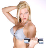 Fitness Instructor With Dumbbell Stock Image