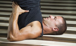 Fitness instructor workingout Stock Images