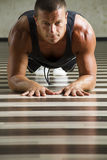 Fitness instructor workingout Stock Photo