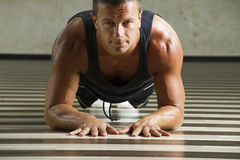 Fitness instructor workingout Stock Image