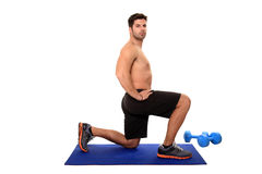 Fitness instructor workout Stock Photo