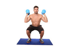 Fitness instructor workout Stock Image