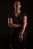 Fitness instructor. A young and handsome african fitness instructor Royalty Free Stock Images
