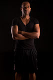 Fitness instructor. A young and handsome african fitness instructor Stock Image