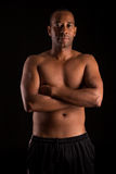 Fitness instructor. A young and handsome african fitness instructor Stock Photography