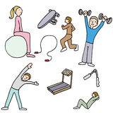 Fitness Items Royalty Free Stock Photography