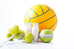 Fitness items and sport equipment Royalty Free Stock Photos