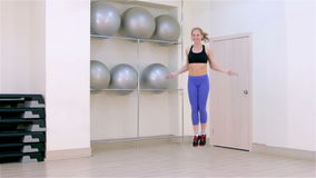 Fitness. Jumping rope stock footage