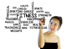 Fitness keywords Royalty Free Stock Photo