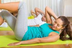 Fitness klasse in sportclub Royalty-vrije Stock Foto