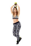 Fitness lady doing cardio dance Royalty Free Stock Photography