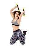 Fitness lady doing cardio dance Stock Image