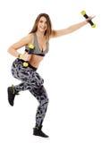 Fitness lady doing cardio dance Royalty Free Stock Photo