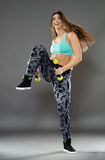 Fitness lady doing cardio dance Stock Photography