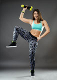 Fitness lady doing cardio dance Stock Photo
