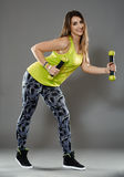 Fitness lady doing cardio dance Royalty Free Stock Image
