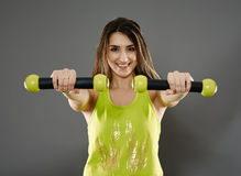 Fitness lady doing cardio dance Stock Image