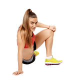Fitness lady stretching Royalty Free Stock Image