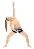 Fitness lady stretching Royalty Free Stock Photography