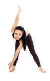 Fitness lady stretching Royalty Free Stock Images