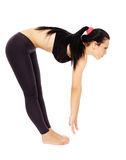 Fitness lady stretching Stock Photos