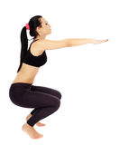 Fitness lady stretching Royalty Free Stock Photos