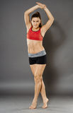 Fitness lady stretching Royalty Free Stock Photo