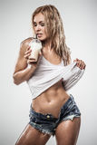 Fitness latte Stock Photo