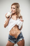 Fitness latte Stock Photography