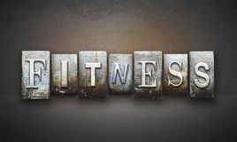 Fitness Letterpress. The word FITNESS written in vintage letterpress type Royalty Free Stock Images
