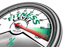 Fitness level conceptual meter Royalty Free Stock Images