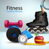 Fitness Lifestyle Background Stock Photo