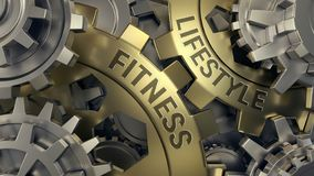 Fitness lifestyle concept 3d rendering stock illustration