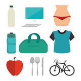 Fitness lifestyle design Royalty Free Stock Photo