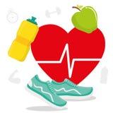 Fitness lifestyle design. Royalty Free Stock Image
