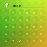 Fitness Line Icons Stock Photo