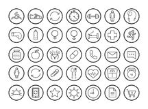 Fitness linear icons set Royalty Free Stock Image