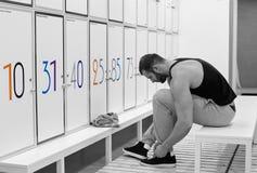 Fitness  locker room Stock Image