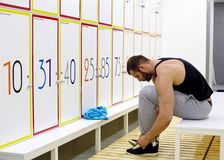 Fitness  locker room Stock Image