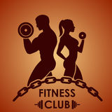 Fitness logo. Fitness club logo in vector vector illustration