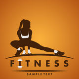 Fitness logo. Fitness club logo in vector stock illustration
