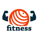 Fitness logo. Concept on white for web and mobile stock illustration